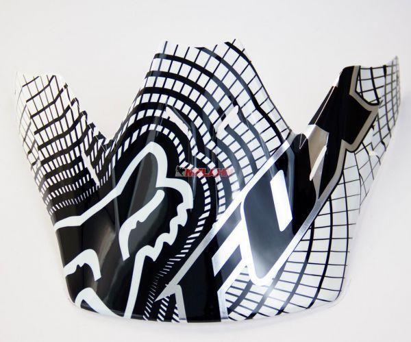 FOX Helmschirm: Visor V3 Visor Vortex weiß/schwarz