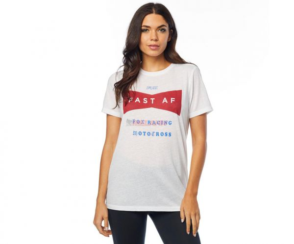 FOX Girls T-Shirt: Fast AF, weiß