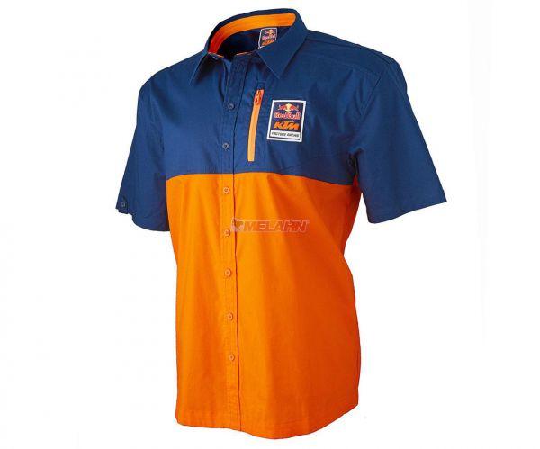 KTM RED BULL Pit-Shirt: KTM Racing Team, orange/navy