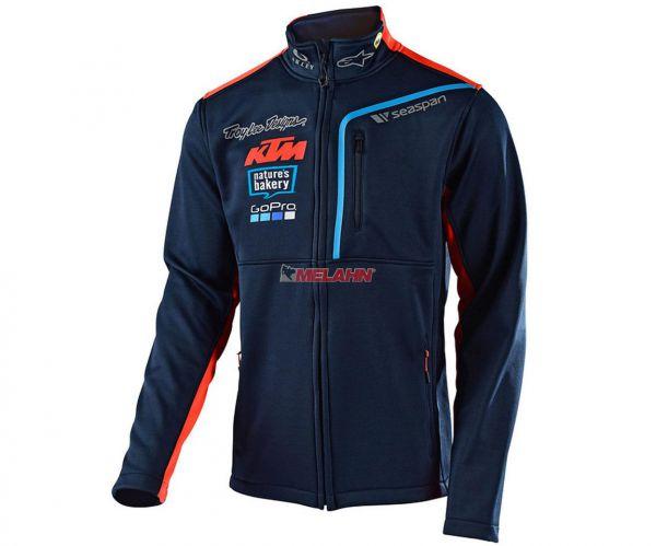 TROY LEE DESIGNS Fleece-Jacke: KTM Team, navy/orange