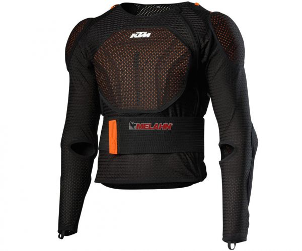 KTM Protektorenjacke: Soft Body Protector, schwarz/orange