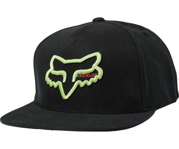 FOX Snapback Cap: Instill, schwarz-grün, OS