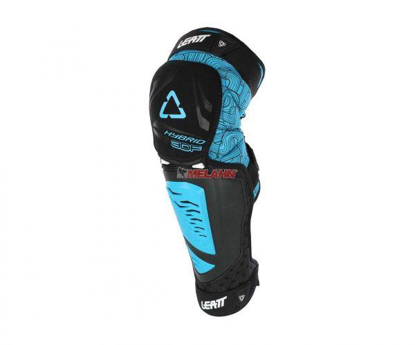 LEATT Knieprotektor (Paar): 3DF Hybrid EXT, blau