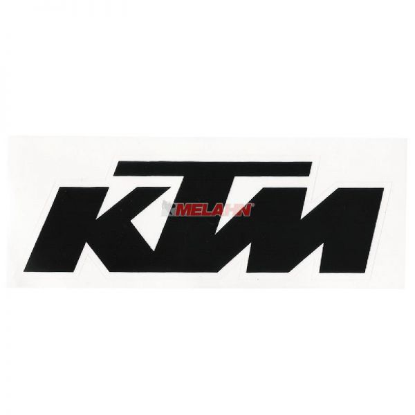 KTM Aufkleber 12x4cm, schwarz