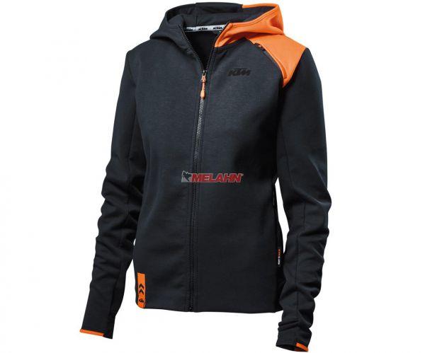 KTM Girls Zip-Hoodie: Unbound, schwarz/orange