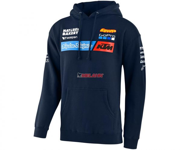 TROY LEE DESIGNS Kids Hoody: KTM Team, navy