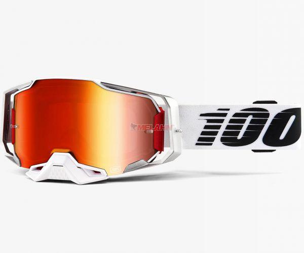 100% Brille: Armega Lightsaber, weiß/schwarz