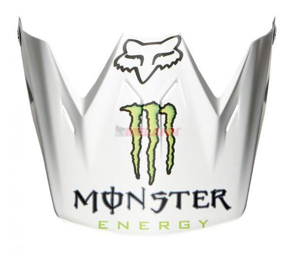 FOX Helmschirm: Visor V3 RC Monster, matt-weiß