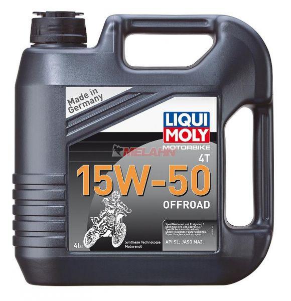 LIQUI MOLY Motoröl: Motorbike 4T 15W-50 Offroad, 4l