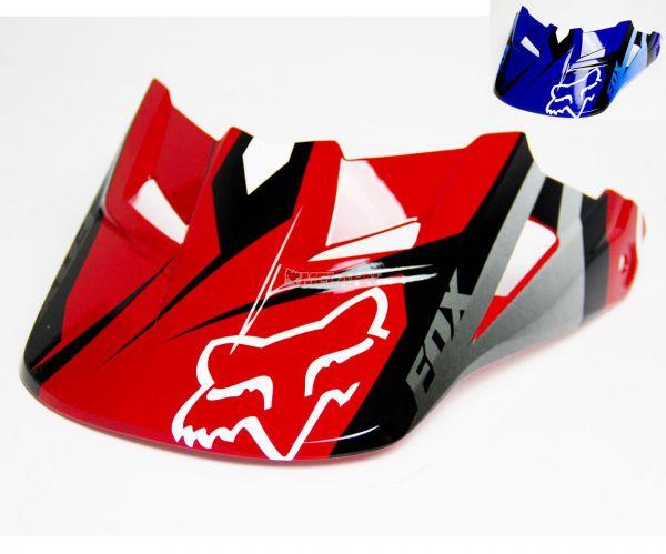 FOX Helmschirm: V1 Visor (2014) Race, blau