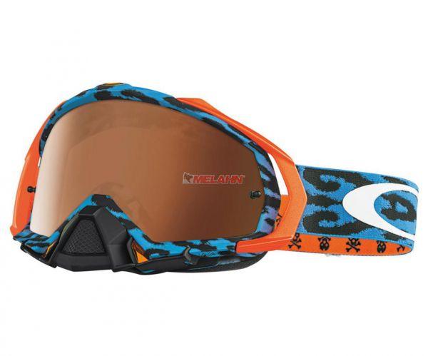 OAKLEY Brille: Mayhem Troy Lee Designs, Cheetah blau, verspiegelt