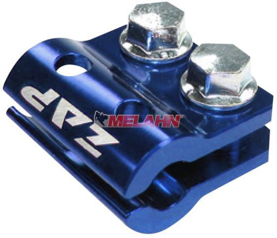 ZAP Aluminium-Bremsschlauchhalter KX/KXF/RM/RMZ 05-, blau