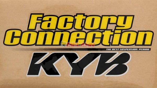 FACTORY CONNECTION Gabelaufkleber KYB (Paar), klar