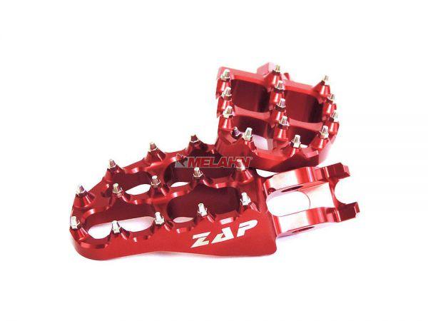 ZAP E-Peg Aluminium-Fußrasten (Paar), KX/KXF 06-, rot