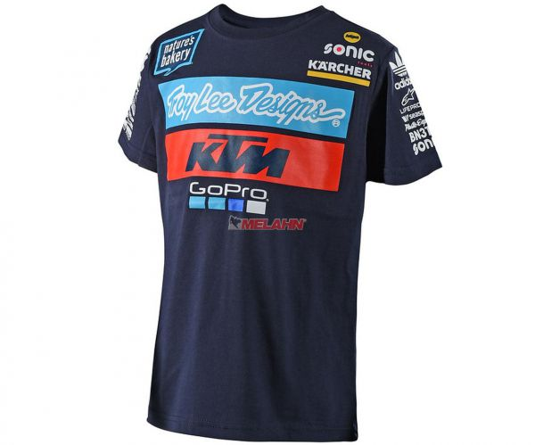 TROY LEE DESIGNS Kids T-Shirt: KTM Team, navy
