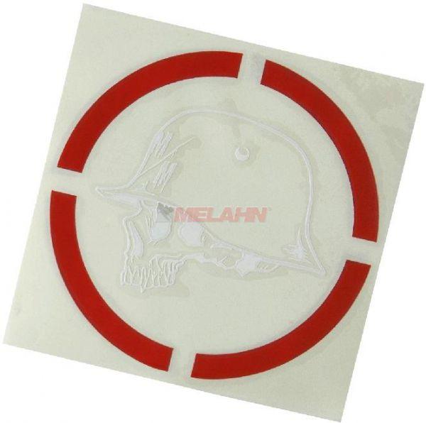 METAL MULISHA Aufkleber TDC: Range, 20cm, rot/weiß