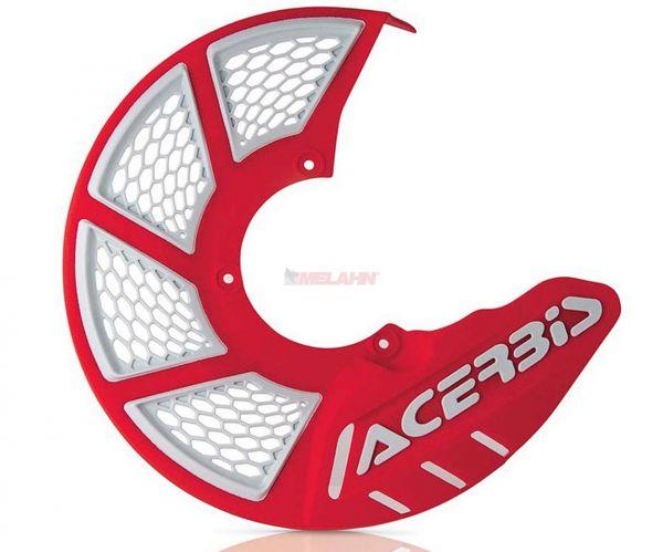 ACERBIS Kunststoff-Bremsscheibenschutz vorne, rot: X-Brake 2.0, rot/weiß