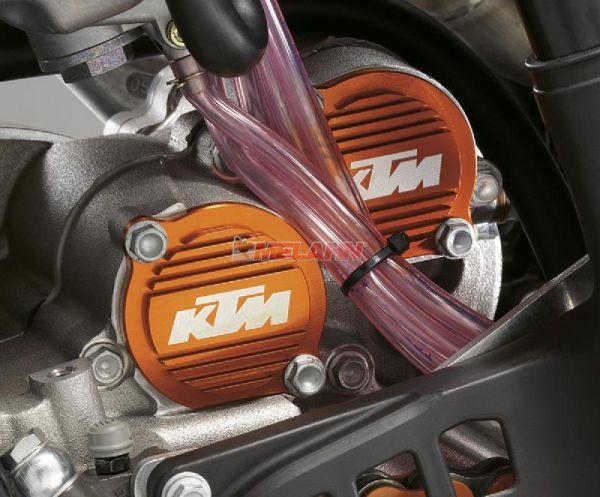 KTM SXS Aluminium-Ölfilterdeckel SX/EXC/SMR, orange