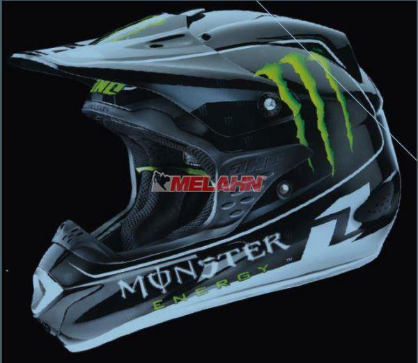 ONE Helm Trooper Monster Energy, schwarz, Gr. S