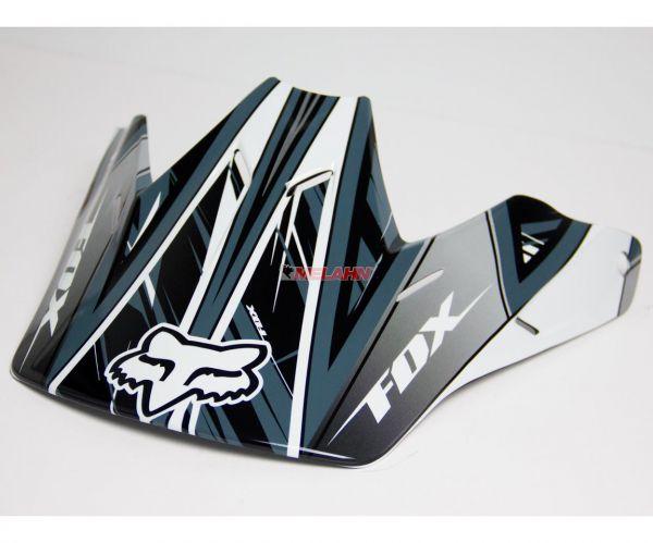 FOX Helmschirm: Visor V3 SX 09, schwarz