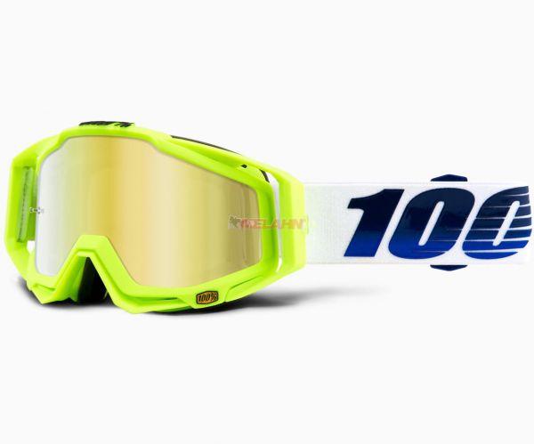 100% Brille: Racecraft GP21, neongelb/weiß