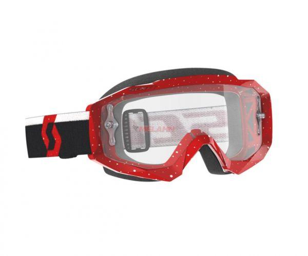 SCOTT Brille: Hustle X MX, rot/schwarz, klares Glas