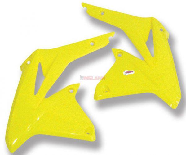 POLISPORT Spoiler (Paar) Kühlerverkleidung RMZ 450 08-17, gelb