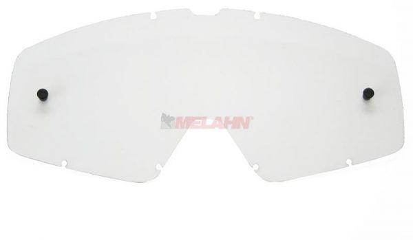 Q-ONE Ersatzglas FOX Main, klar anti-fog