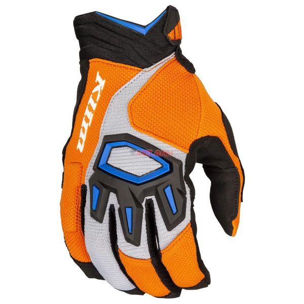 KLIM Handschuh: Dakar, orange/blau