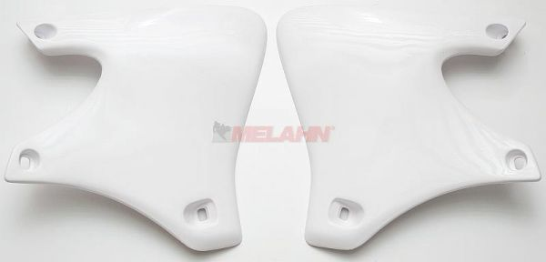 UFO Spoiler (Paar) Kühlerverkleidung YZF 250 01-02, weiß