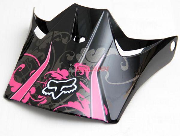 FOX Helmschirm: Visor Tracer Pro, schwarz/pink