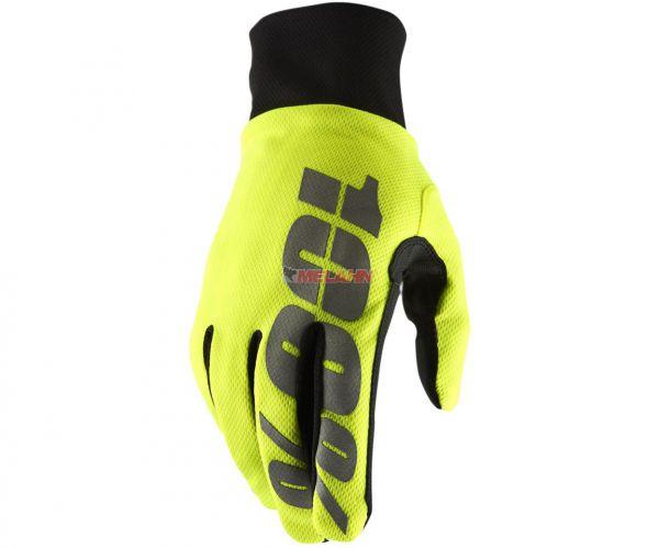 100% Handschuh: Hydromatic, neongelb