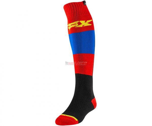 FOX Socke (Paar): FRI Thin Linc, blau/rot