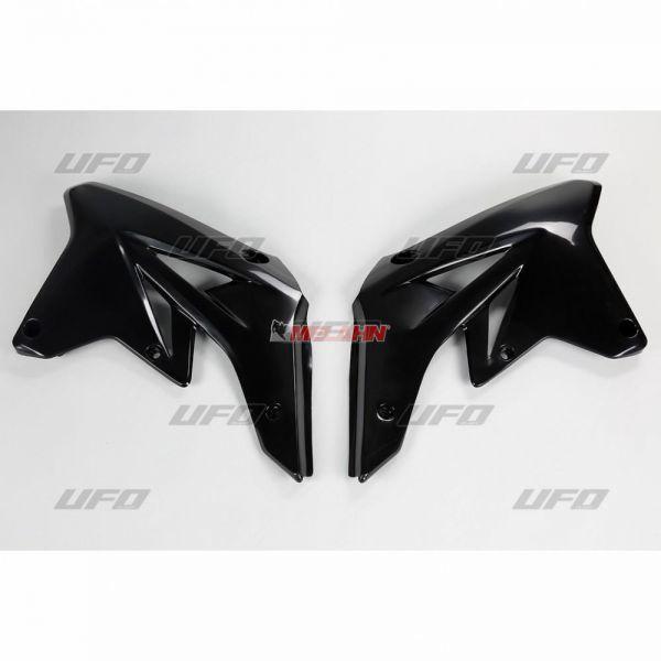 UFO Spoiler (Paar), Kühlerverkleidung RMZ 250 07-09, schwarz