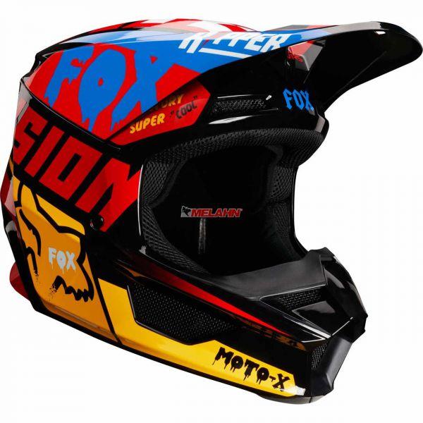 FOX Helm: V1 Czar, schwarz/gelb