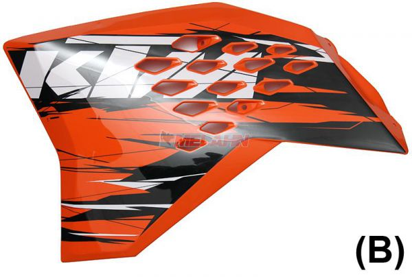 KTM Spoiler (Paar) mit Dekor SX 07-10 / EXC 08-11, EXC 2011