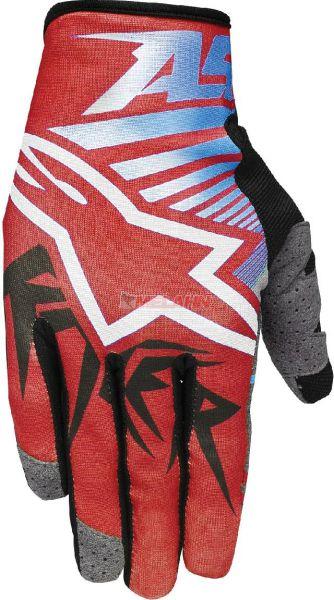 ALPINESTARS Handschuh: Racer, rot/blau