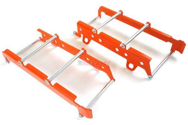 ZAP Aluminium-Kühlerschutz (Paar), KTM SX 19- / EXC 20-, orange