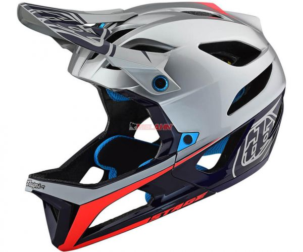 TROY LEE DESIGNS MTB-Helm: Stage (MIPS), Race Silver/Navy