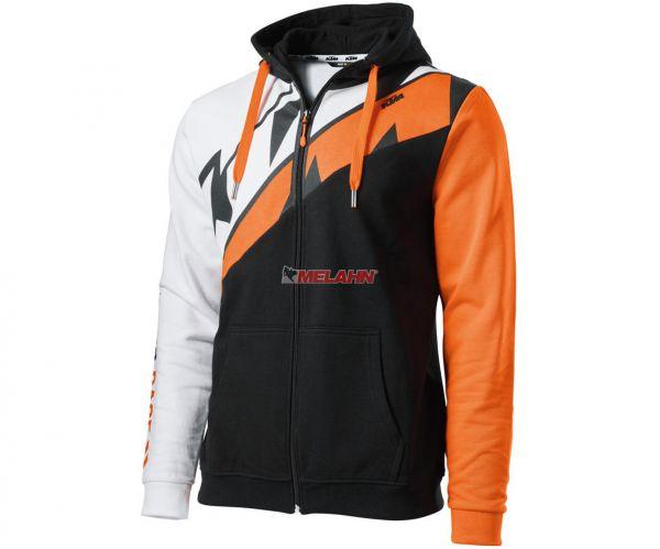 KTM Zip-Hoody: Radical Sliced, schwarz/weiß