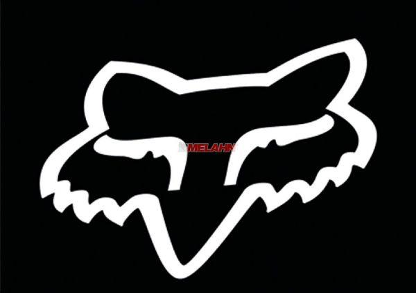 FOX TDC-Aufkleber: Head 11,5x9cm, weiß