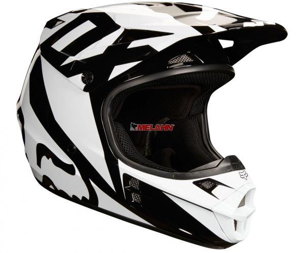 FOX Helm: V1 Race, schwarz
