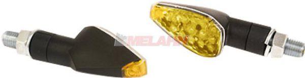 MT LED-Blinker (Paar): Peak, kurz (66mm), schwarz