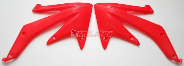 UFO Spoiler (Paar) Kühlerverkleidung CRF 450 05-08, CR2000rot