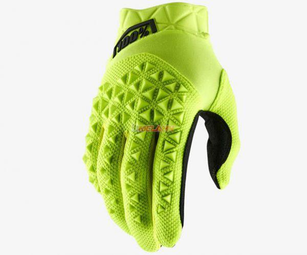 100% Handschuh: Airmatic , neongelb/schwarz