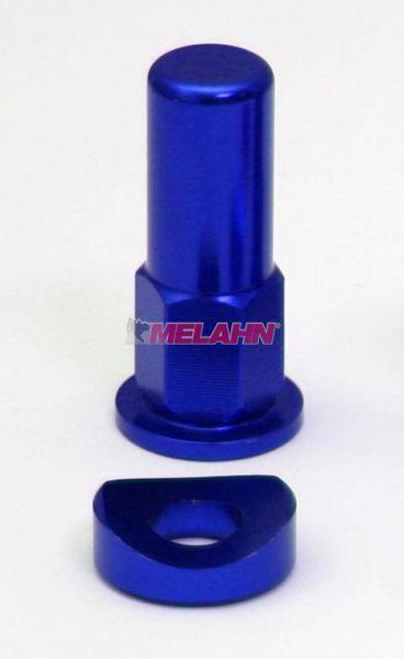 ZAP Aluminium-Reifenhalter-Mutter, 1 Stück, blau