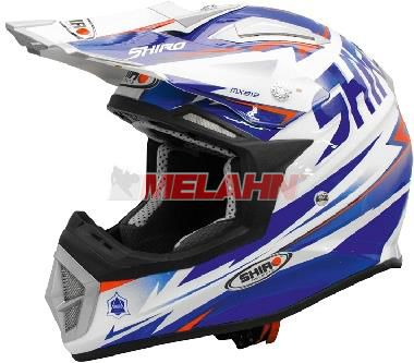 SHIRO Helm: MX-912 Thunder, , blau