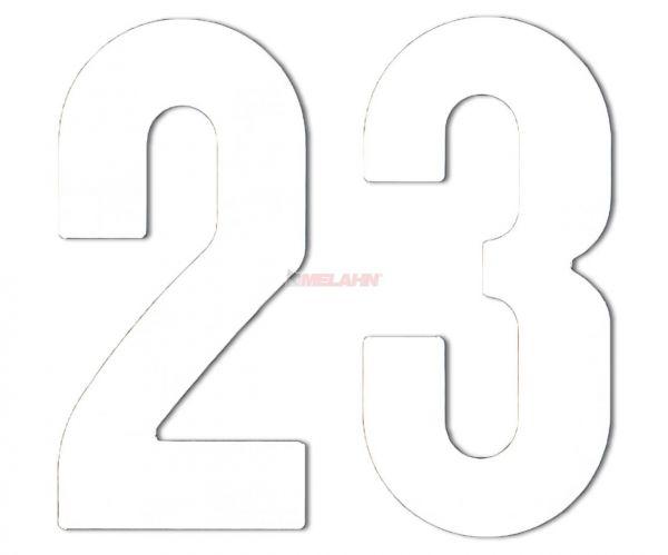 MT Enduro-Zahlen 15cm einzeln, weiß
