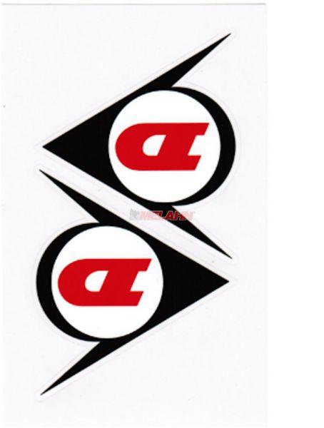 DUNLOP Aufkleber Logo, 8x8xcm, 2 Stück