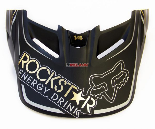 FOX Helmschirm: V4 Rockstar 2012 Visor, schwarz